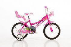 Detský bicykel Dino 166R  so sedačkou pre bábiku a košíkom - 16