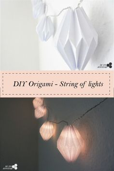 Origami on Christmas lights – makes a beautiful decor | The Tiny Honeycomb