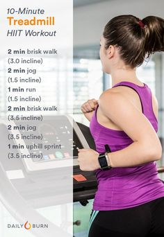 10-Minute Treadmill HIIT Workout
