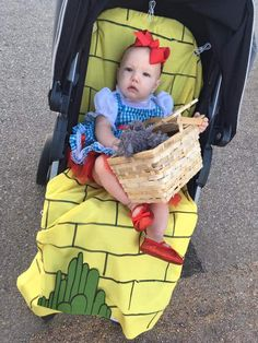 dorothy from wizard of oz stroller costumer for halloween