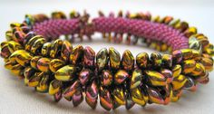 Bead Crochet Bracelet Pattern:  Spikes Number 1 (Variations A and B) Crochet Pattern.