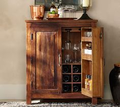 Bowry Bar Cabinet   Pottery Barn