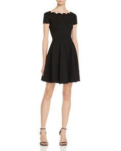 2c8c1d811ad  AQUA Ponte Scalloped Neck Dress - 100% Exclusive - Bloomingdale s