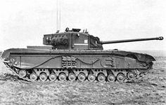 Black Prince.  After the success of the 17 lbr on the Sherman Firefly, there was a movement to equip all British tank designs with the gun.  The last development of the Churchill infantry tank had a widened hull to allow a larger turret ring and mount the 17 lbr.  This required new suspension, and left the tank even slower than before.