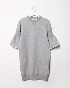 Sacai | Sweatshirt Dress | La Garçonne