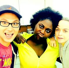 Bennett looks surprised, Taystee looks like a straight up G, and Pennsatucky looks like she didn't know the picture was being taken. #OITNB