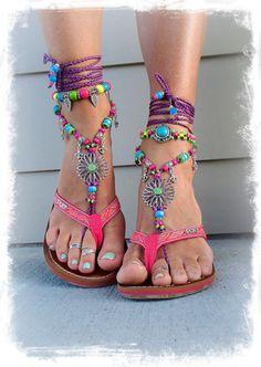 Pulseira de tornozelo flor - Be fun
