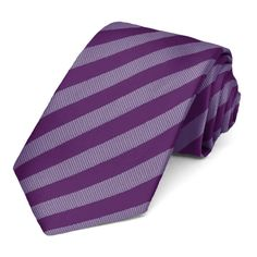 Shop men's formal striped ties at discount prices. Top choice for groomsmen attire. Wisteria Wedding, Purple Wedding Flowers, Striped Wedding, Dusty Purple, Purple Ties, Men Formal, Tie And Pocket Square, Pocket Squares, Wedding Ties