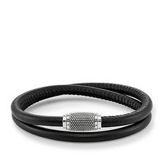 Thomas Sabo Bracelet Rebel At Heart Double Black Leather Thomas Sabo, Heart Bracelet, Bracelets, Bracelet Cuir, Argent Sterling, Sterling Silver, Black Leather Bracelet, Luxury Watches, Womens Fashion