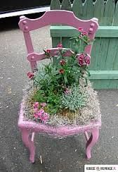 Znalezione obrazy dla zapytania krzesło jako kwietnik