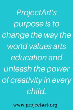 ProjectArt is a nonprofit organization that brings Art to children in New York. #art