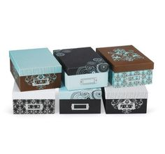 Need to get some of these... wish I could order them online! Recollections storage boxes from Michaels...