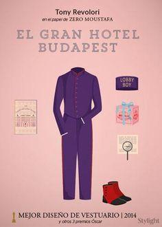 Milena Canonero se llevó el premio por su trabajo en El Gran Hotel Budapest…