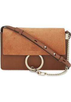 5c562afe33 CHLOE - Faye small leather suede clutch