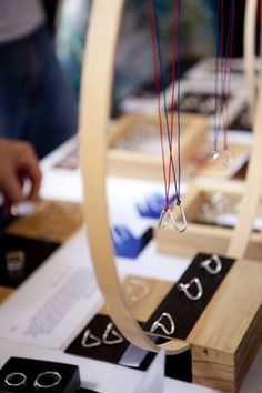 Nice displays sets along with some very useful advice. - July 13 2019 at Craft Stall Display, Craft Fair Displays, Market Displays, Bag Display, Display Ideas, Display Stands, Booth Ideas, Jewelry Booth, Craft Stalls