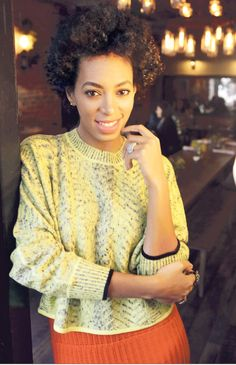 Liking you more every day, Solange! <# Yellow and Orange: Perfect Summer Look.