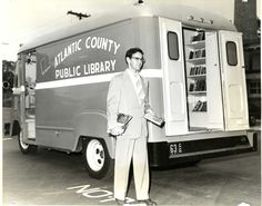 Clyde King, Atlantic County Library System's bookmobile driver circa 1955.
