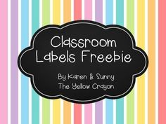 Set of FREE classroom labels containing days of the week, months of the year, and core academic subjects (reading, writing, math, science, and social studies). An editable version - available soon!!! :) #teacherspayteachers