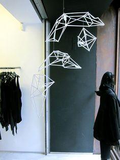 Shop window installation by Bec Britten