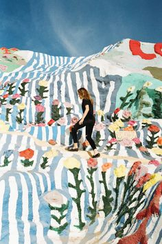 Salvation Mountain, Niland, California (Southern CA, near Palm Springs) painted with Biblical themes, scripture verses and prayers by Leonard Knight.