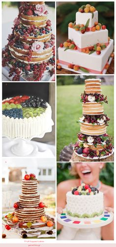 Fruit topped cakes!