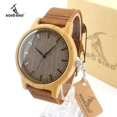 Bamboo Watch Men BOBO BIRD Quartz Leather Watch Wristwatch Clock #sheerbliss #bestoftheday #fashion #watches #beautiful