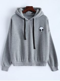 GET $50 NOW | Join RoseGal: Get YOUR $50 NOW!http://www.rosegal.com/sweatshirts-hoodies/sporty-long-sleeve-drawstring-alien-658718.html?seid=7123053rg658718