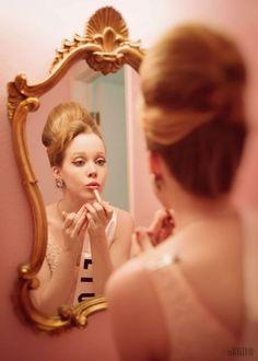 """littleskullteam: """" model: Katharina Daue Hair: Rebekah Eggers Photographer: Little Skull Photography """""""