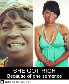 "I'm actually happy for her. and if anyone ever asks her for an interview she can say ""ain't nobody got time for that"""