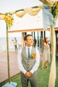 More sodazzling.com | blue, ivory, light grey with bright color accents - Rustic Beach Wedding in Hua Hin สถานที่จัดงานแต่งริมหาด ที่หัวหิน | Photography : Nordica Photography : nordicaphotography.com