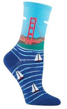 Golden Gate Bridge Socks from The Sock Drawer