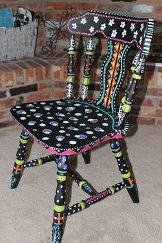 Simply Sherrinda : Trash Chair DIY Redo! Super cute!