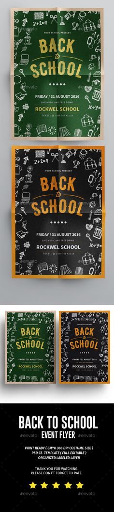 Back To School Flyer Template PSD. Download here: https://graphicriver.net/item/back-to-school-flyer/17239309?ref=ksioks