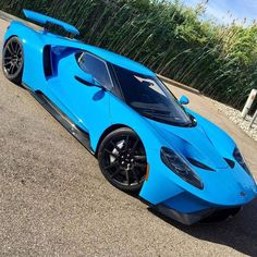 Schöner Ford Riviera Blue 2017 Ford GT â € ¢ Besitzer Exotic Sports Cars, Cool Sports Cars, Exotic Cars, Ford Gt 2017, Maserati, Bugatti, Ferrari, Mustang, Sexy Cars