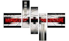 Arte dal Mondo AY017CX1 Abstrato Pintura compuesta realizada a mano montadas sobre bastidor grueso #cuadros #abstratos