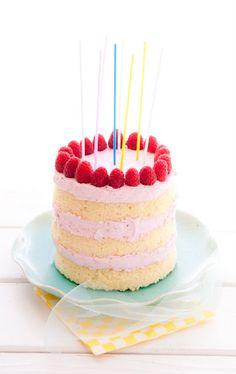 lemon and raspberry-lime layer cake