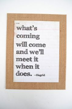 Burlap Canvas panel 8x10 with Harry Potter quote by Melissa Anne Company