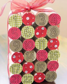 I know it's blasphemy to discuss Christmas on September 1st, but I'm teaching a craft class in about a month to create these advent calendars for Christmas. A best friend made us one a couple years back-it was a hit at our home. Talk about an easy/almost free project to make to get the kids excited about the holiday! I just have to stock up at Christmas Stuff, Christmas 2019, Christmas Crafts, Advent Calendars For Kids, Toilet Paper Roll Crafts, Diaries, Art For Kids, December, Arts And Crafts