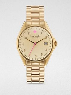 Kate Spade Seaport Watch in Gold. A girl can dream!