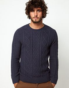 ASOS Cable Knit Sweater Fashion Moda, Gents Fashion, Style Fashion, Cable  Knit Sweaters a8777ecf389
