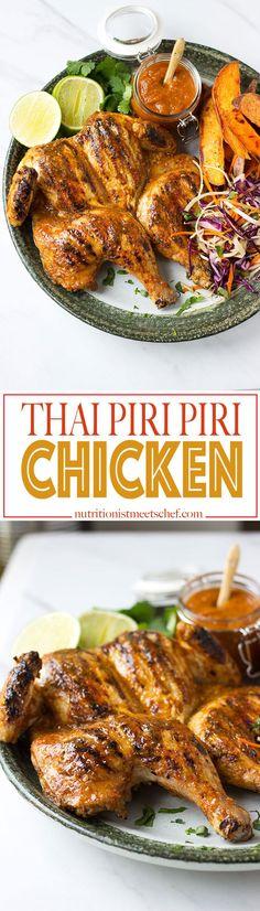 If you like Nandos, you'll love this Thai Piri Piri Chicken! Get the recipe at nutritionistmeetschef.com