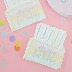 Rainbow Birthday Plates / Pastel Birthday Plates / Rainbow Birthday Plate / Pastel Happy Birthday / Somewhere Over the Rainbow Yellow Birthday Cakes, Rainbow Birthday Party, Happy Birthday Parties, Ciel Pastel, Deco Pastel, Pastel Blue, Rainbow Pastel, Pastel Paper, Pastel Colors