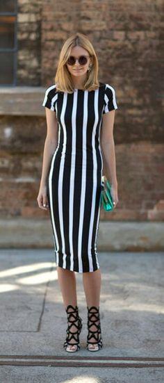 fashion   style vertical stripes dress