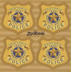"skunkandburningtires: "" Zootopia Police badges and parking tickets, via """