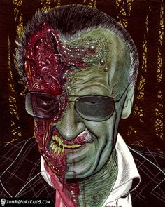 Zombie Stan Lee by Artist, Rob Sacchetto