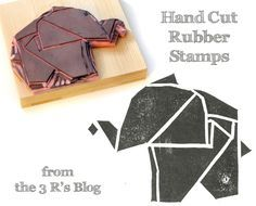 Learn how to carve your own rubber stamps with this step-by-step tutorial complete with photos of each step. Handcut Rubber Stamp Tutorial by the3R'sblog