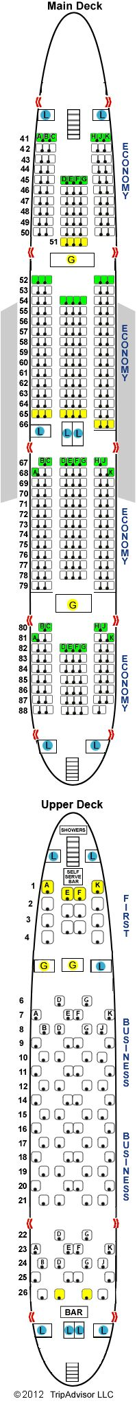 Lufthansa Airlines Airbus A380 800 Airline Seating Map