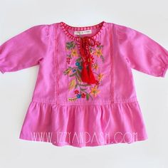 Genuine Kids from OshKosh Toddler Girls 2 pc Set Bow Pink Shorts Jacquard Polished Pink 3T Striped Lined Top