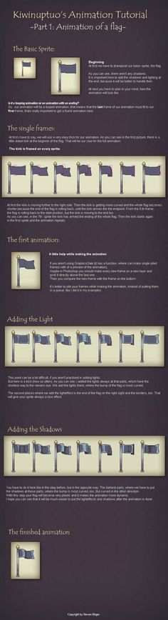 Animation Tutorial 1: Flag by *Kiwinuptuo on deviantART ✤ || CHARACTER DESIGN REFERENCES | キャラクターデザイン | çizgi film • Find more at https://www.facebook.com/CharacterDesignReferences & http://www.pinterest.com/characterdesigh if you're looking for: #color #contrast #animation #how #to #draw #paint #drawing #tutorial #lesson #sketch #colors #pixel #art #process #line #art #comics #tips #digital || ✤