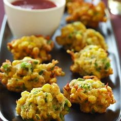 "THAI-STYLE SPICY CRAB & CORN FRITTER ~~~ corn fritters in thailand are known as, ""tod man khao pod""; this recipe adds crab [culinary.net]"